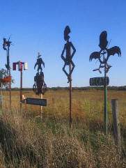Grassroots Art metal sculptures