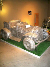 Car made of pull-tabs